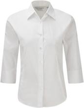 Ladies 3/4 Sl Easy Care White