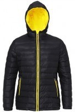 Women's Padded Jacket Black/Yellow