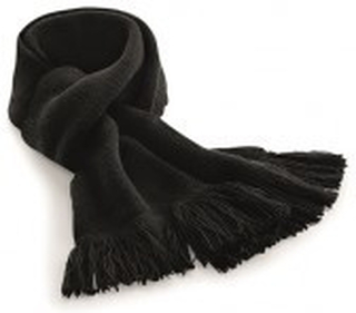 Classic Knitted Scarf Black