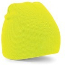 Beanie Knitted Hat Flourescent Yellow