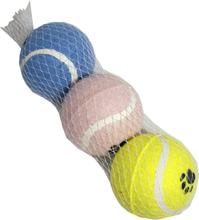 Hundleksak Tennisboll, 3-pack