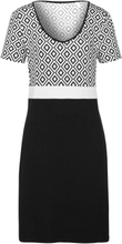 Kleid 1/2-Arm Rösch mehrfarbig