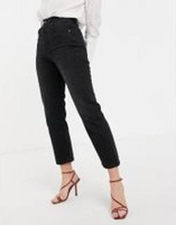 Topshop – Editor – Svarta straight jeans
