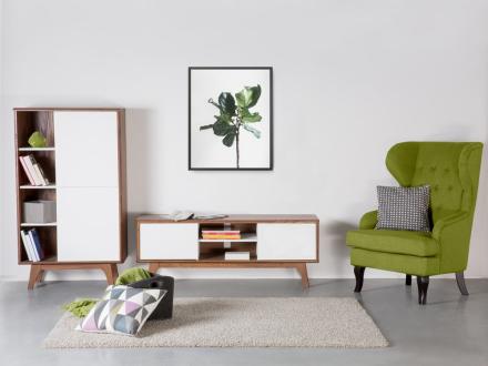 Tv-bord Brun/Hvid Rochester
