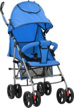 vidaXL 2-i-1 Barnvagn/sittvagn stål blå