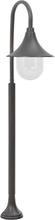 vidaXL Lyktstolpe för trädgård E27 120 cm aluminium brons