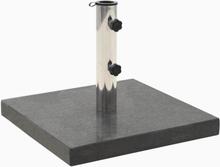 vidaXL Parasollfot granit 30 kg fyrkantig svart