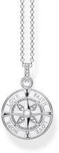 Halsband Kompass Tro, Hopp Och Kärlek Silver