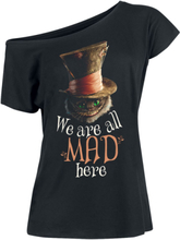 Alice in Wonderland - We Are All Mad Here -T-skjorte - svart