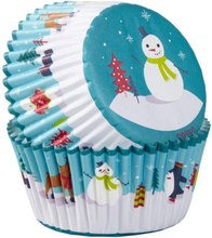 Wilton Muffinsformar Snögubbe 75 st Baking Cups Snowman with Characters