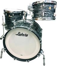 "Ludwig Classic Maple Custom - Vintage Black Oyster Pearl 20"",12"",14""."