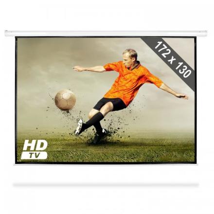 Roll-up projektionsduk hemmabio projektor HDTV 172x130cm 4:3