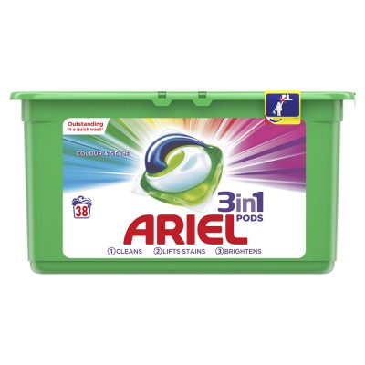 Ariel Pods 3-in-1 Color 38 stk