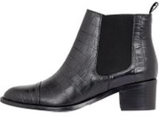 BIANCO Croco Chelsea Ankle Boots Kvinder Sort