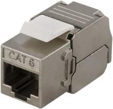 DELTACO FTP Cat6 Keystone kontaktdon, Tool-free