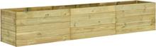 vidaXL Odlingslåda 450x50x54 cm impregnerad furu