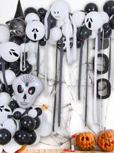 1 Set Halloween Aluminiumfolie Ballon Kürbiskopf Fledermausspinne Ballon Happy Halloween Ballon Partydekoration
