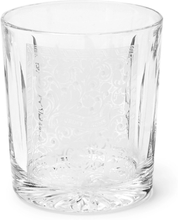Gun Scroll Engraved Crystal Tumbler - Clear
