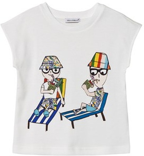 Dolce & Gabbana Dolce Gabbana Holiday Print T-shirt Vit 5 years