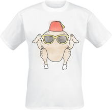 Friends - The One With A Turkey Wearing A Hat -T-skjorte - hvit