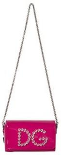 Dolce & Gabbana eweled DG Patent Handväska Fuchsia