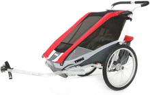 Thule Chariot Cougar 1 Polkupyörän perävaunu sekä Pyörävaunusarja, red 2019 Lastenkuljetuskärryt