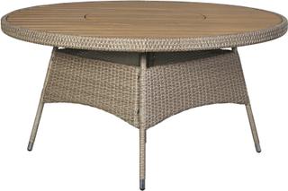 Henny havebord, med drejeskive Ø150 cm nonwood i teak farve.