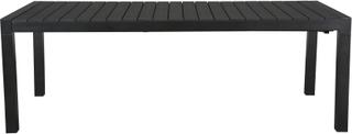 Efour havebord, inkl. 1 tillægsplade L 205/275 cm sort/sort.