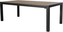 Egar havebord, inkl. 1 tillægsplade 205/275 cm sort/brun.