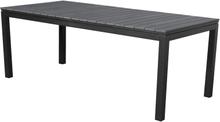 Essy havebord, inkl. 2 tillægsplader L 200-300 cm sort/grå.