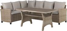 Jese loungemøbel loungesæt, inkl. hynder natur,beige/brun.