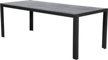 Fall havebord, 205 cm sort/grå.