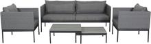 Jesan loungemøbel sofasæt, inkl. hynder sort,grå/grå.