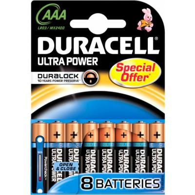 Duracell AAA Duralock Ultra 8 kpl