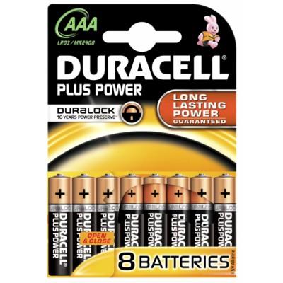 Duracell AAA Duralock Plus Power 8 stk