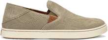 OluKai Pehuea Leather Dam Sko Beige US 7/EU 37