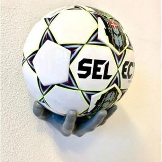 Ball ON Wall - Hvid BOLD Hånd - Fodbold Basketball holder
