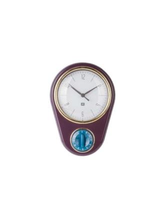 Retro Wall clock w. kitchen timer