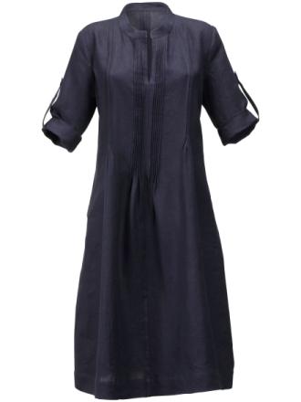 Klänning trendig ärm – 100% linne från Anna Aura blå