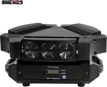 2pcs/lot Disco Light 9x10w 4in1 3-Heads Mini LED Spider Moving Head Stage Lighting Great Effect DMX512 DJ Equipment Bar Lights
