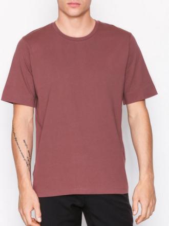 Selected Homme Shdfrelly Ss O-Neck Tee T-paidat ja topit Tumma vaaleanpunainen
