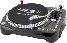 Ibiza skivspelare med USB / SD-kort spelare