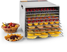 Fruit Jerky Steel 10 Torkugn 10 hyllor 1000 W yta: 1,5 m² timer