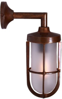 Mullan Lighting Cladach vägglampa - Polished brass, clear glass