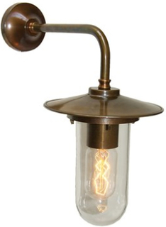 Mullan Lighting Florin glass vägglampa - Antique silver, clear glass