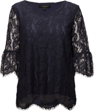 a1915311 Pia Blouse T-shirts & Tops Long-sleeved Svart SOFT REBELS