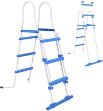 vidaXL Sikkerhetsstige for basseng med 3 trinn 107 cm