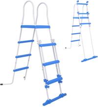 vidaXL Säkerhetsstege med 3 steg för ovanmarkspooler 122 cm