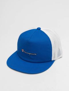 Champion Mænd Trucker Caps Rochester Basketball i blå, Kan indstilles