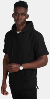 Urban Classics TB1108 Short Sleeve Side Zipped Hoddy Black